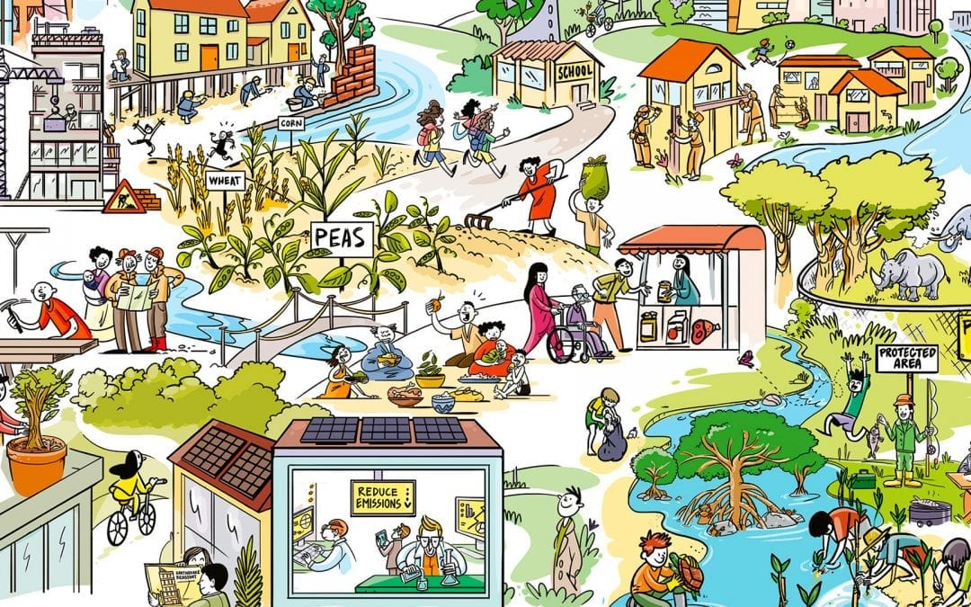 A series of posters on environmental protection