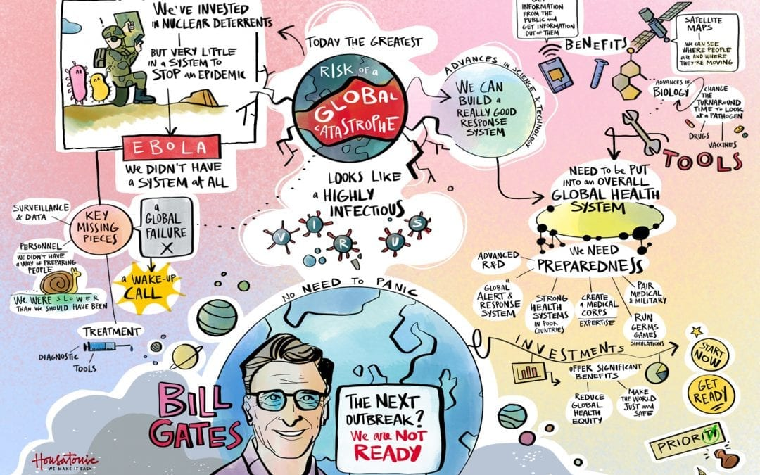 Bill Gates sul rischio di una catastrofe globale